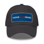 Dad Hat: 3D #KnowShowShare Rectangle