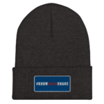 Cuffed Beanie: 3D #KnowShowShare Rectangle